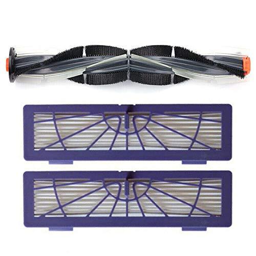 TOOGOO Roll Kits De Filtros De Brocha para Neato Botvac D Serie D7 D5 D3 D7500 D8500 D800 Pieza