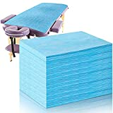 50 Pieces Disposable Bed Sheets Waterproof Bed Cover Massage Table Sheet Non-woven Fabric for Spa, Beauty Salon, Hotels (Blue)