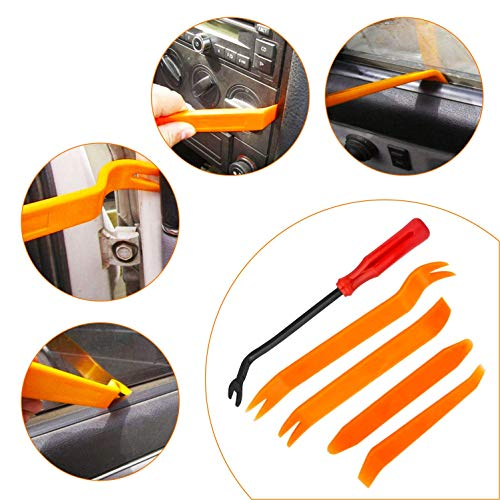 KUFUNG 415 PCS Car Bumper Retainer Clips & Nylon Fasteners Rivet Kit, Bumper Quick Release, Auto Push Pin Rivets Set, Door Trim Panel Clips for GM Ford Toyota Honda Chrysler (415PCS)