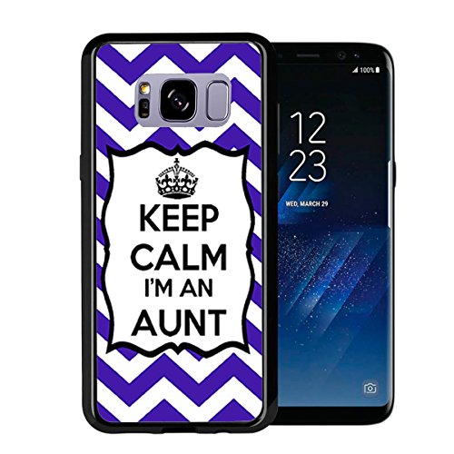 Chevron Royal Blue Keep Calm Im an Aunt for Samsung Galaxy S8 2017 Case Cover by Atomic Market