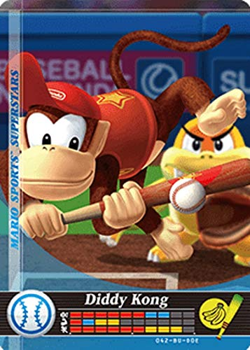 Nintendo Mario Sports Superstars Amiibo Card Baseball Diddy Kong for Nintendo Switch, Wii U, and 3DS