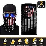 ELYAN [2 Pack Skull Rave Face Mask Bandana Dust Wind UV Sun, Neck Gaiter Tube Mask Headwear, Motorcycle Women Men Face Scarf
