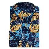 XJJZS Talla extra 9XL 10XL Camisa de manga larga de manga larga de Hawaii de los hombres para hombre (Color : A, Size : 42-XXL code)