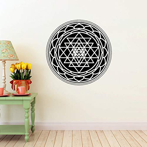 Ajcwhml Mandala Wand Applique Wand Zimmer Art Deco Vinyl Aufkleber Wand Zeichen Symbol große große Wohnkultur