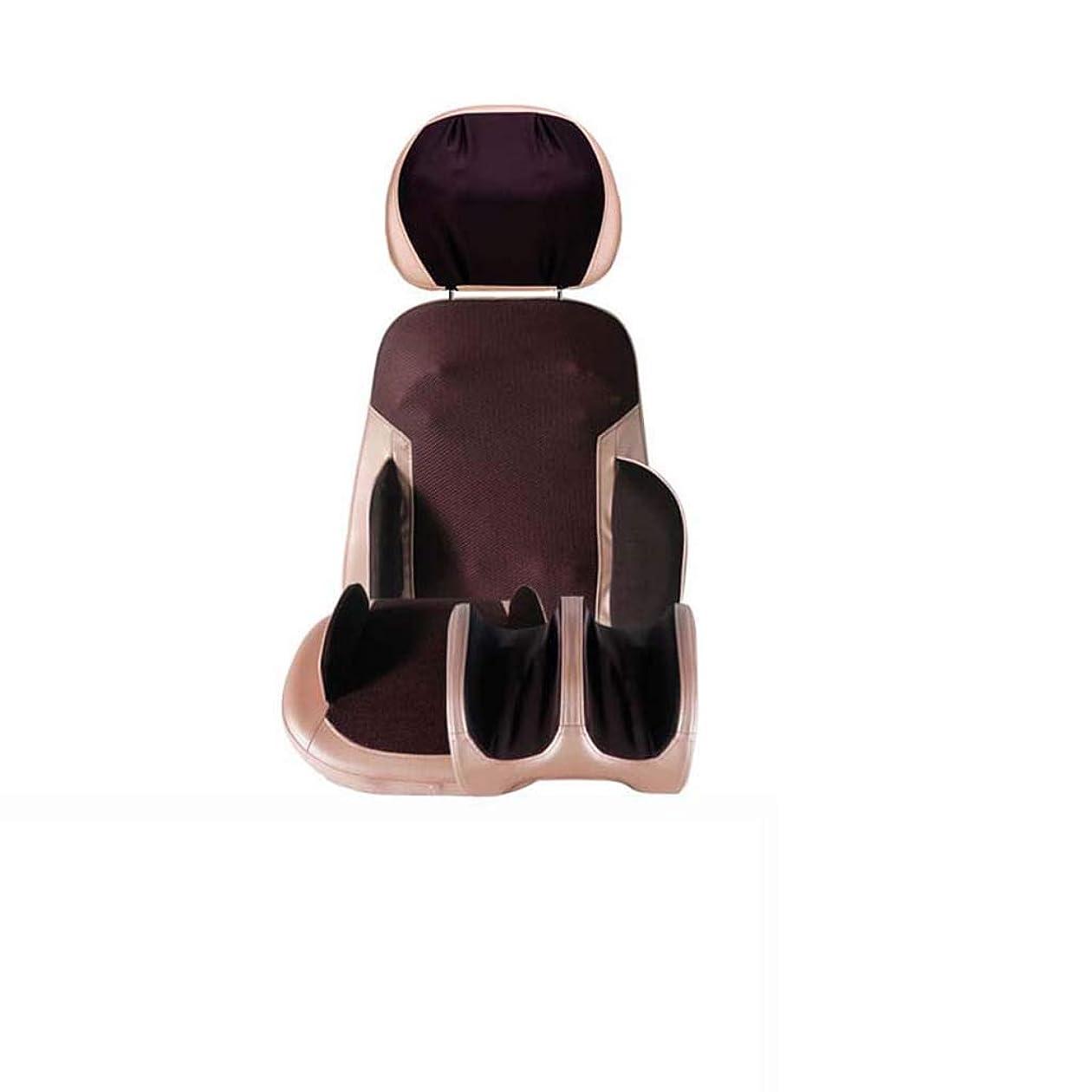 隣人ねじれ約Yhz@ マッサージチェアクッションボディマルチファンクションホームオフィス電気マッサージャー頚椎腰ウエストマッサージクッション - 調整可能なヘッドレスト