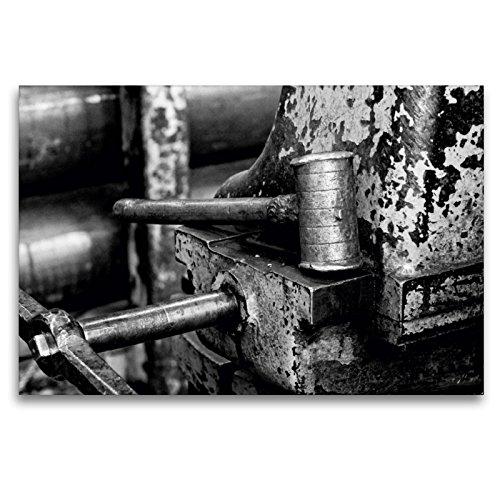 CALVENDO Premium Textil-Leinwand 120 x 80 cm Quer-Format Eisenhammer an der Drehbank, Leinwanddruck von Gerhard Bomhoff