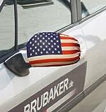BRUBAKER - Housse de rétroviseur - Lot de 2 - USA/États-Unis - Collection Supporter - Stars and Stripes