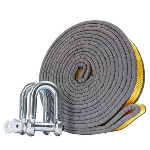 Best Bargain DWLXSH Tow Straps Kit,Warmword Tow Straps Heavy Duty with D Ring,Thick Reflective Doubl...