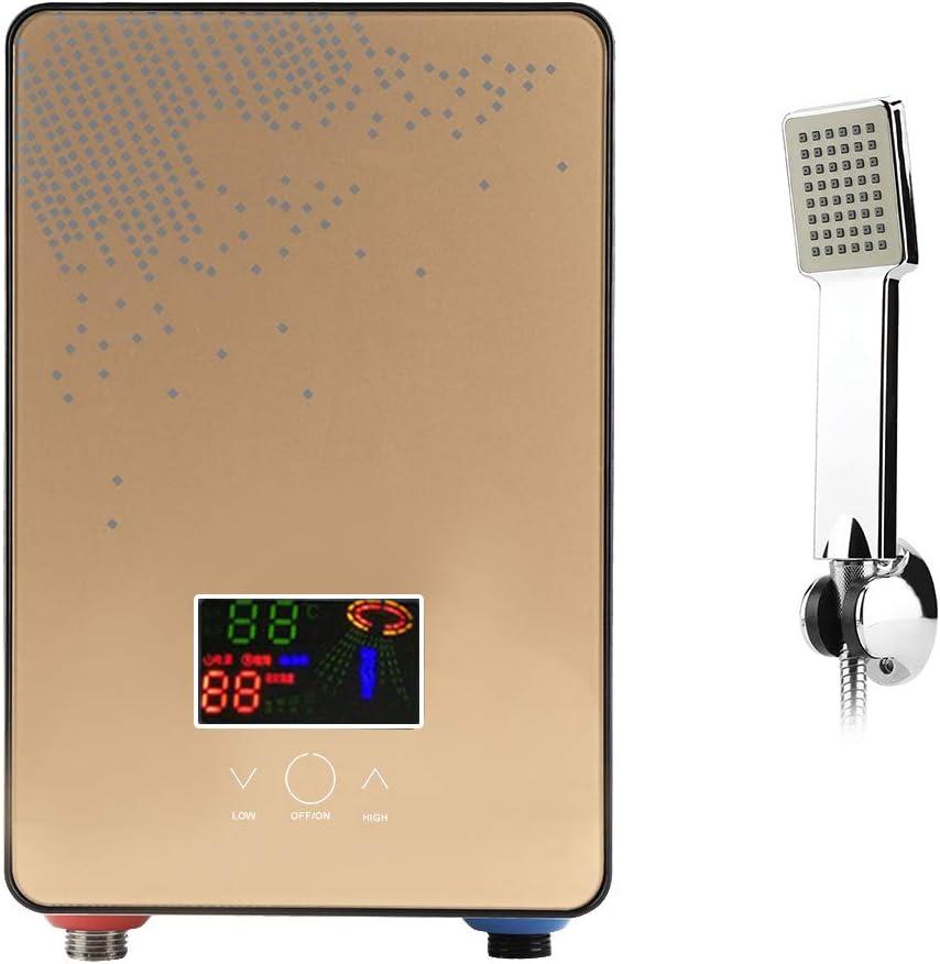 Elektrischer Durchlauferhitzer Durchlauferhitzer ohne Tank 220 V für die sofortige Warmwasserversorgung Badezimmerzubehör mit selbstmodulierender…