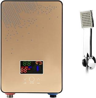 Calentador de Agua sin Tanque Eléctrico 220V Calentador de Agua de Ducha Instantáneo Suministros de Baño con Tecnología de Temperatura de Auto-modulación