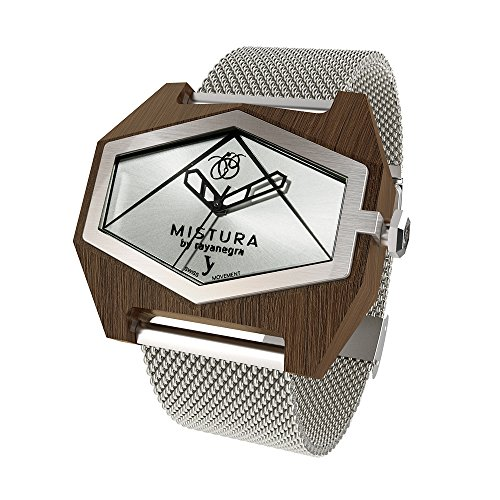 MISTURA Wood Watch Infinite MESH Pui Silver