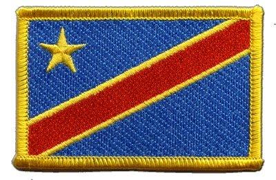 Aufnäher Patch Flagge Demokratische Republik Kongo - 8 x 6 cm