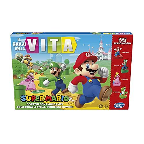 Hasbro Gaming Il Gioco della Vita: Super Mario Edition, gioco da tavolo per bambini dagli 8 anni in su, Multicolore