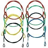 CKANDAY - Confezione da 8 corde di sicurezza in acciaio inox, colorate rivestite cordini compatibili con tutte le serie GoPro Hero e altri dispositivi fotografici