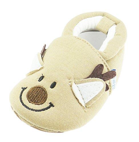Glamour Girlz Chaussons pour bébé fille ou garçon motif tête d'animal Marron Noël 12 3–6 mois