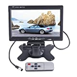 BW 7 inch High Resolution 800*480 TFT Color LCD Car Rear View Camera Monitor Support Rotating The Screen and 2...