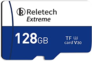 ReleTech 128GB UHS-I TF Card Drone Micro SD Card Class 10 microSDXC Card with Adapter C10, U3, V30, 4K UHD, A1, Up to 100M...