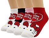JJMax Hello Kitty - Juego de calcetines tobilleros de mezcla de algodón para mujer -  Multi color -  Talla única