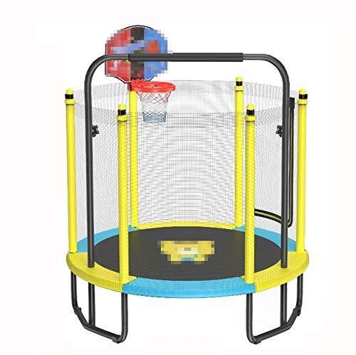 YYhkeby Ejercicio de trampolín Infantil, 2 en 1, con Canasta y Barra Horizontal, para niños para Saltar/Jugar Baloncesto/Ejercicio Jialele (Color : B)