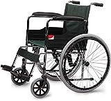 Dljyy Viajes Ligera Silla de Ruedas Plegable Andador portátil con Frenos de Mano for el Resto del pie dfgjgl Ancianos discapacitados Adultos Ayuda a la Movilidad