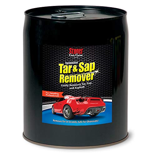 Stoner Car Care 91157 Tarminator Tar, Sap, and Asphalt Remover Safe on Automotive Paint and Chrome on Cars, Trucks, RVs, Motorcycles, and Boats, 5-Gallon