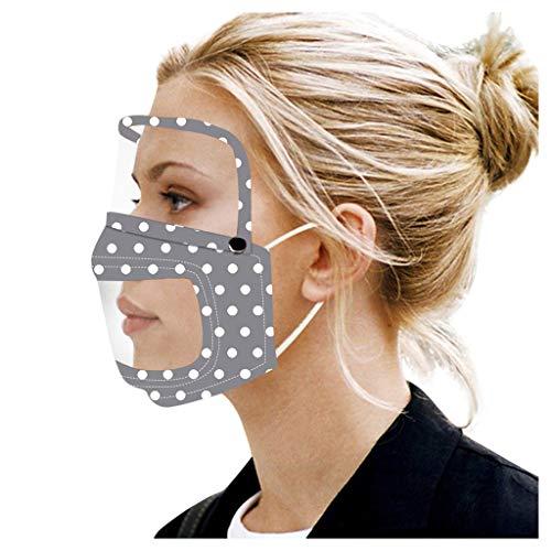 Bumplebee Transparenter Mundschutz Waschbar mit Schutzbrillen Mehrweg Atmungsaktive Tuch Staubdicht Brille Mund und Nasenschutz Augenschutz Für Gehörlose