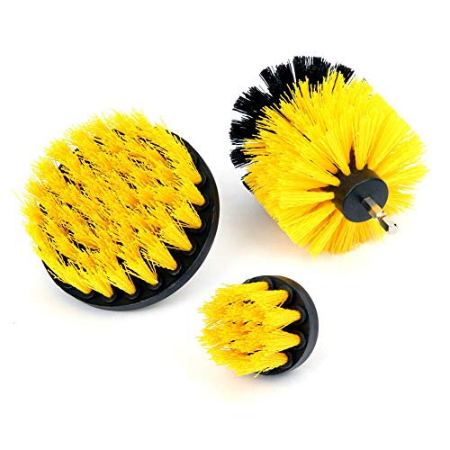Home & More New Durable Drill Brush Set Power Scrubber Drill Attachments for Carpet Tile Grout Cleaning Accent