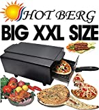 Hotberg Big XXL Size 16 inches Multi Purpose Electric tandoor (2000W) with Shock Proof Rubber Legs Steel Element warrenty 2 Year for Heating Element