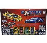 RAMA TRITTON 34233 Rennstrecke, 285 cm, inklusive 4 Autos und 2 Ersatzteilen mit Licht, Mehrfarbig