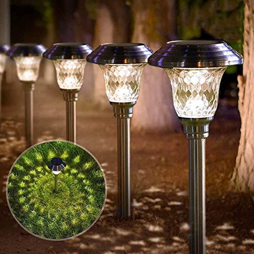 BEAU JARDIN 4 Luci Solari Giardino Esterno Torce Solari Luci A LED Giardino Impermeabile Faretti Per Patio Vialetto Ponte Cortile Viale Decorazione Di Illuminazione Di Nozze
