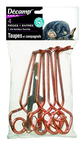 Décamp' Piège à Taupes et Campagnoles avec Tendeur x4