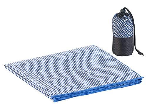 PEARL Badetuch: Schnelltrocknendes, leichtes Bambus-Handtuch, nachhaltig, 80 x 40 cm (Reise-Handtuch)