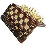 LAANCOO Plegable magnético Tablero de ajedrez 3 en 1 de aje