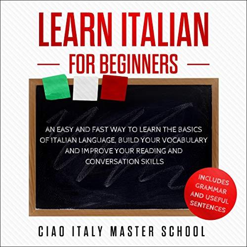 Learn Italian for Beginners audiobook cover art