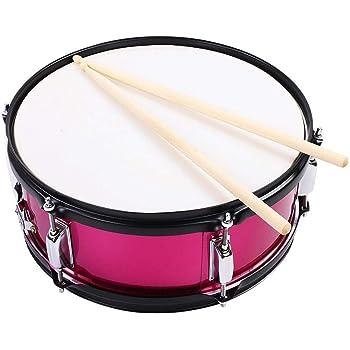 Drfeify Tambor de Percusión Kit con Palillo de Tambor Tecla de Batería y Bolsa(Rosa Rojo): Amazon.es: Deportes y aire libre