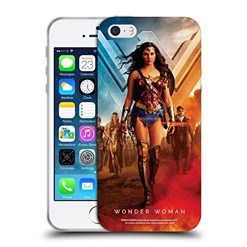 Head Case Designs Licenza Ufficiale Wonder Woman Movie Gruppo Poster Cover in Morbido Gel Compatibile con Apple iPhone 5 / iPhone 5s / iPhone SE 2016