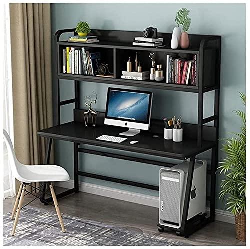 Escritorio de pie de 47 pulgadas con conejera y estantería, moderno estudio de estudiante para ordenador portátil, escritorio para el hogar, oficina, muebles de computadora (color: B)-B