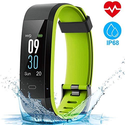 HOMSCAM Orologio Fitness Tracker Fitness Braccialetto Smartwatch Cardiofrequenzimetro da Polso Donna Uomo Bambini Smart Watch Contapassi Calorie Impermeabile IP68 per iPhone Huawei Samsung Xiaomi