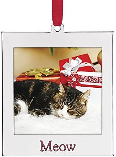 Lenox Frame Ornament Cat