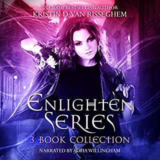 Enlighten Series: The Complete 3 Book Collection: Swords & Stilettos, Daggers & Dresses, and Wings & Wars      Enlighten Series Boxset 2              By:                                                                                                                                 Kristin D. Van Risseghem                               Narrated by:                                                                                                                                 Sofia Willingham                      Length: 25 hrs and 53 mins     2 ratings     Overall 4.5