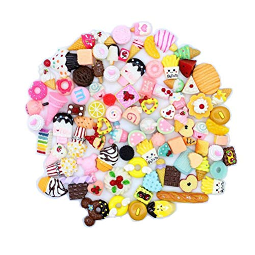 PiniceCore 20pcs / Lot Mix Kawaii Food, Nette Unicorns, Harz Flatback Cabochon für Telefon-Deco, Scrapbooking, DIY