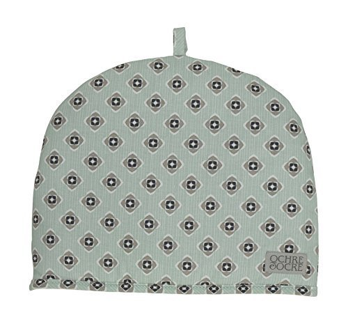 Ochre and Ocre Organic Cotton Tea Cosy Garden Green Grey by Ochre...