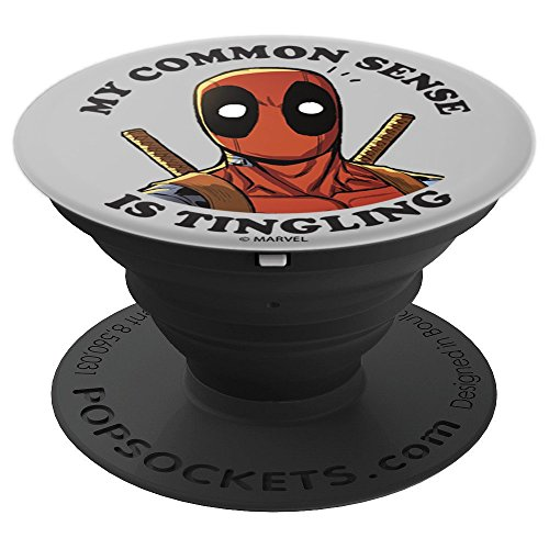 Marvel Deadpool My Common Sense Is Tingling - PopSockets Grip and Stand for Phones and Tablets