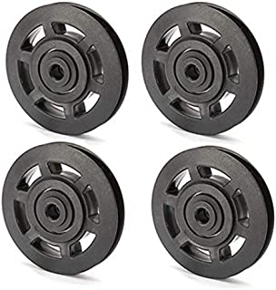 Xigeapg 4Pcs 95mm Universal Bearing Pulley Wheel Cable...