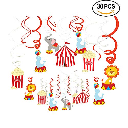 AIYANG Karneval Hängende Wirbel Dekoration Zirkus Party Decoraitons Decke Karneval Zirkus Geburtstag Party Supplies Baby Shower Decor