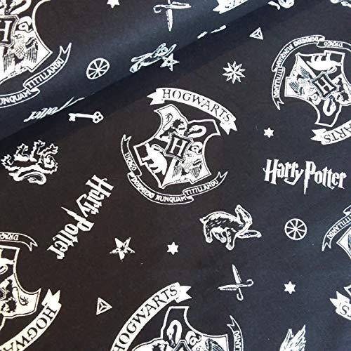 Harry Potter Hogwarts - Tela de algodón, 110 cm de ancho po