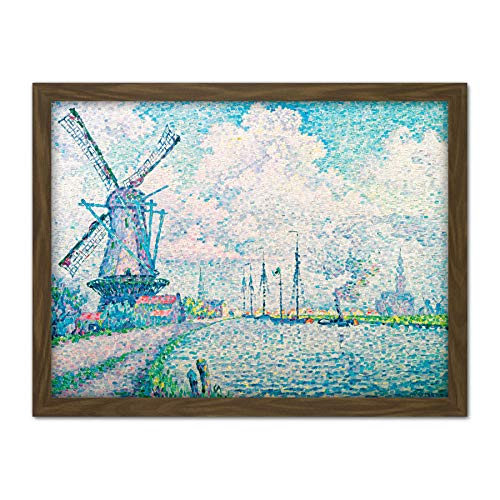 Paul Signac Canal Of Overschie Large Framed Art Print Poster Wall Decor 18x24