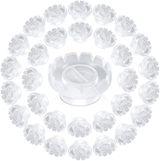 Teenitor 100pcs Glue Holder and Lash Organizer for Individual Eyelashes Volume Fan Building, Quick Blossom Cup for Sharpening or Closing Volume Fans Eyelash Extensions