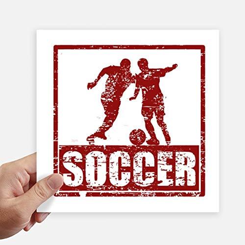 DIYthinker Rode Voetbal Speler Pak Voetbal Vierkant Stickers 20 Cm Muur Koffer Laptop Motobike Decal 4 Stks