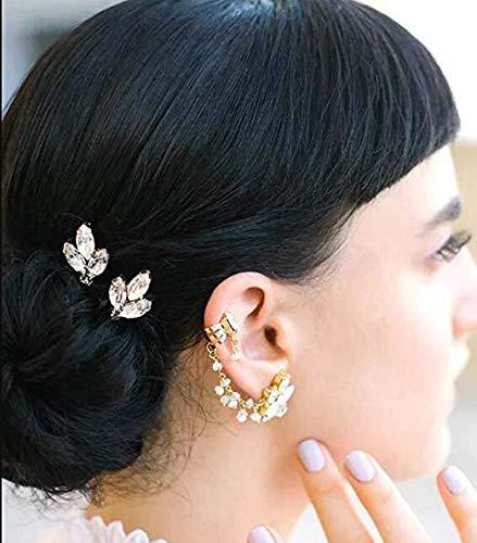 Jovono Horquillas para el pelo de boda, accesorios para el pelo, para novia, para mujer, paquete de 3